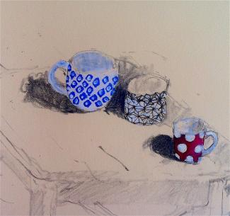 Drawing of small cups